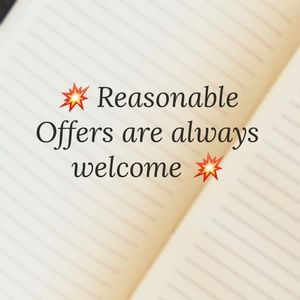 All reasonable offers are welcomed & considered